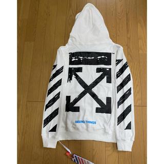 OFF-WHITE - Off white オフホワイト パーカー ホワイト色 XL