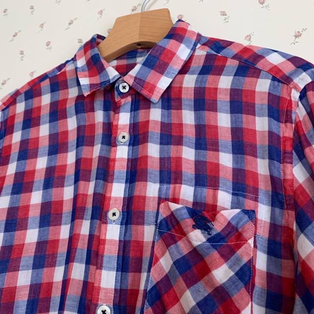 BURBERRY BLACK LABEL(バーバリーブラックレーベル)の■名作!■バーバリーブラックレーベル ガーゼ素材 長袖チェックシャツ メンズのトップス(シャツ)の商品写真