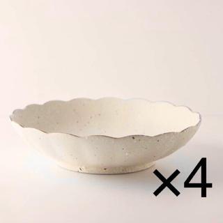 オシャレな美濃焼 深皿 花型 輪花 カレー パスタ皿