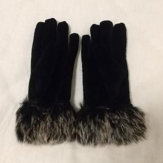 ユニクロ(UNIQLO)のユニクロ UNIQLO 手袋 グローブ ファー(手袋)