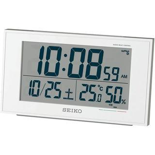 セイコークロック 置き時計 電波 デジタル カレンダー 快適度 温度 湿度 表示