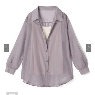 グレイル(GRL)のキャミ付きシアーシャツ(シャツ/ブラウス(長袖/七分))