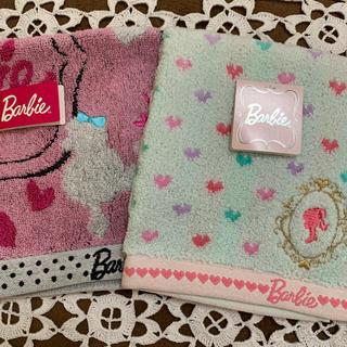 バービー(Barbie)の【最終セール】バービータオルハンカチ2枚セット(ハンカチ)