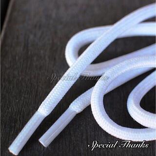 シューレース(靴紐) ロープレース(丸紐) ホワイト 120㎝ ※商品説明必読(スニーカー)