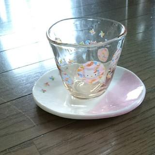 ハローキティ(ハローキティ)のキティちゃんグラス&コースター(グラス/カップ)