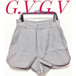ジーヴィジーヴィ(G.V.G.V.)のG.V.G.V【美品】シルク混 ラウンドカット ショートパンツ キュロット(ショートパンツ)