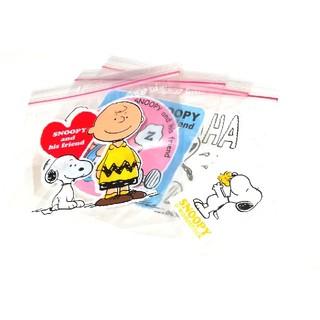 スヌーピー(SNOOPY)の大4枚+小1枚 チャック付き袋 スヌーピー キャラクター 収納袋 ジップロック(ラッピング/包装)