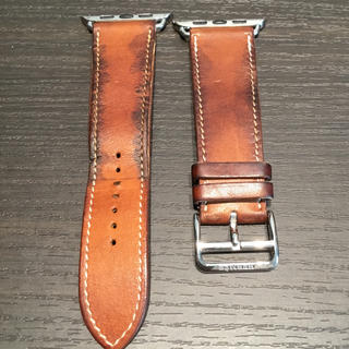 エルメス(Hermes)のアップルウォッチ専用 Apple Watch 42mm用 エルメス レザーベルト(レザーベルト)