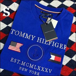 トミーヒルフィガー(TOMMY HILFIGER)のフラッグロゴと星条旗 一番人気 ブルーS TOMMY HILFIGER(Tシャツ/カットソー(半袖/袖なし))