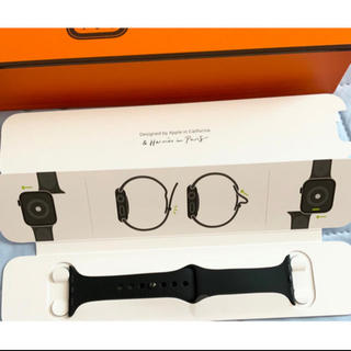 Hermes - Apple Watch 38、40ミリ用 HERMESラバーバンド黒