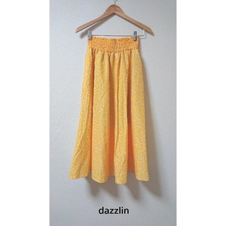 ダズリン(dazzlin)のタグ付き新品! ウエストシャーリング総柄フレアスカート 6,490円(ロングスカート)