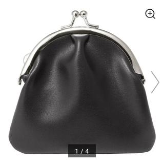 ジーユー(GU)の人気がま口 GU ブラックウォレット 財布(財布)