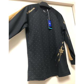 MIZUNO - バレーボールシャツ / ユニセックス / M / ブラック×ゴールド