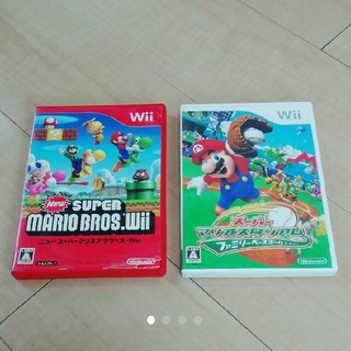 Wii - Wii マリオ ソフト 2枚セット