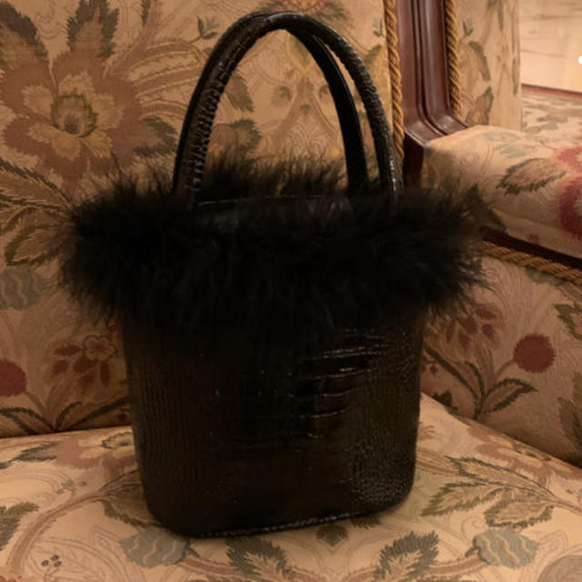 Lochie(ロキエ)のthevirgins クロコバニティバッグ BLACK レディースのバッグ(ハンドバッグ)の商品写真