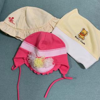 アカチャンホンポ(アカチャンホンポ)のベビー帽子 3枚セット(帽子)