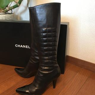CHANEL - シャネル ロングブーツ ブラック