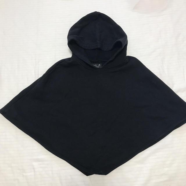 agnes b.(アニエスベー)のagnes.b ポンチョ ブラック キッズ/ベビー/マタニティのベビー服(~85cm)(カーディガン/ボレロ)の商品写真