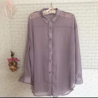HONEYS - ラベンダー透けシャツ