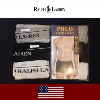 ポロラルフローレン(POLO RALPH LAUREN)のPOLO RALPH LAUREN ボクサーブリーフLサイズ3枚セット新品未使用(ボクサーパンツ)