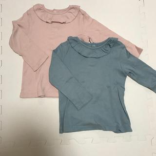 ユニクロ(UNIQLO)のUNIQLO フリルつきクルーネックT 90(Tシャツ/カットソー)
