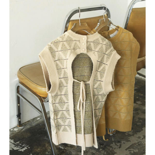 TODAYFUL - todayful Pattern Knit Vest