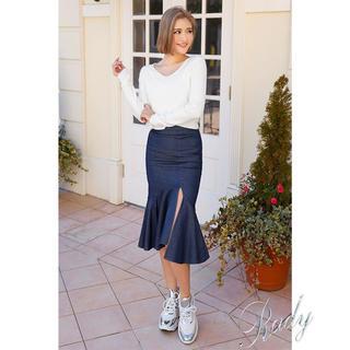 レディー(Rady)の新品Rady デニムスカートSサイズ(ひざ丈スカート)