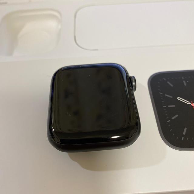 Apple Watch(アップルウォッチ)のApple watch 6 GPSモデルスペースグレイアルミニウムケス 44mm メンズの時計(その他)の商品写真