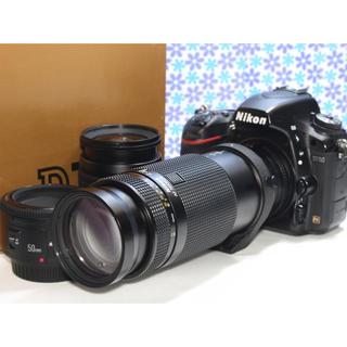 Nikon - 極美品❤️Nikon D750 トリプルレンズセット❤️標準+望遠+単焦点❤️