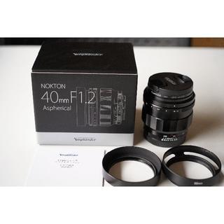 SONY - フォクトレンダー NOKTON 40mm F1.2 Aspherical 新同