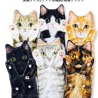 ながーい 猫 ネコ 速乾タオル 1枚