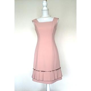 ルネ(René)のルネ❇️美品 ドレス ベルプリーツ スモーキーピンク 34(ひざ丈ワンピース)
