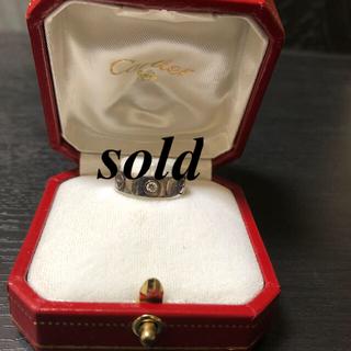 カルティエ(Cartier)の❤️Cartier ラブリング ハーフダイヤ❤️(リング(指輪))