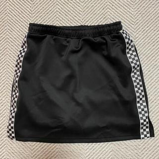 ウィゴー(WEGO)の値下げしました wego ラインスカート 黒 フリーサイズ(ミニスカート)