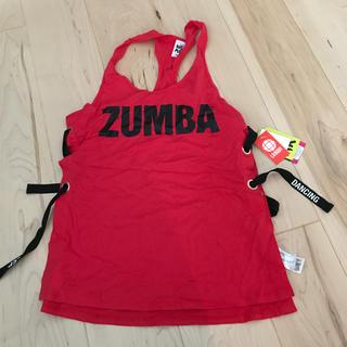 ズンバ(Zumba)のズンバ  人気 赤 タンクトップ 正規品 sサイズ(ダンス/バレエ)