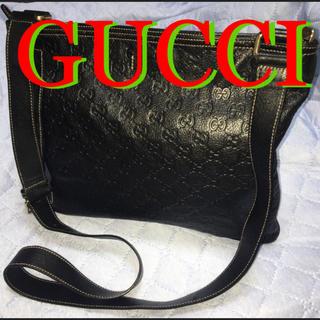 グッチ(Gucci)の美品❗️GUCCI メッセンジャーバッグ シマ レザー ショルダーバッグ(メッセンジャーバッグ)