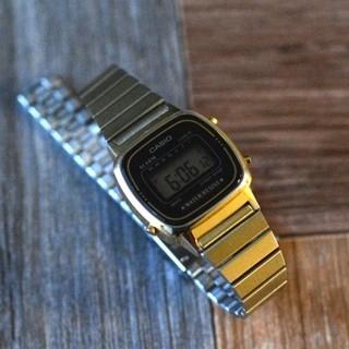 カシオ(CASIO)のCASIO LA670W ミニ デジタル ウォッチ ゴールド(腕時計)