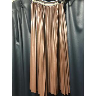 ローズバッド(ROSE BUD)のローズバッド プリーツレザースカート(ひざ丈スカート)