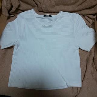 エモダ(EMODA)の【夏物処分価格】EMODA ショート丈 半袖 ホワイト(Tシャツ(半袖/袖なし))
