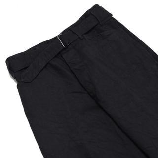 コモリ(COMOLI)のCOMOLI デニム ベルテッドパンツ (Black) サイズ2 20AW 新品(デニム/ジーンズ)