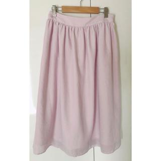 ミッシュマッシュ(MISCH MASCH)の薄ピンクのスカート♪(ひざ丈スカート)