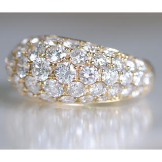 K18 ダイヤモンド 1.766ct ピンキーリング リング パヴェ(リング(指輪))