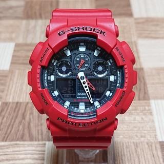 CASIO - 美品【CASIO/G-SHOCK】デジアナ メンズ腕時計GA-100B-4AJF