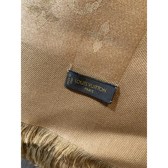 LOUIS VUITTON(ルイヴィトン)のルイヴィトン 大判ストール キャメル レディースのファッション小物(ストール/パシュミナ)の商品写真