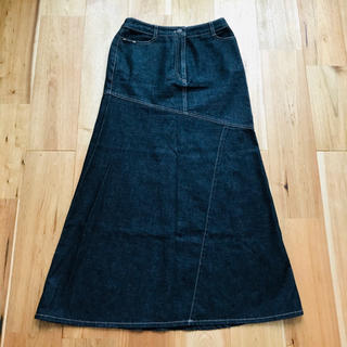 バーバリー(BURBERRY)のバーバリー デニムロングスカート  サイズ5 三陽商会(ロングスカート)