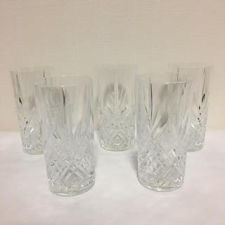 ミツコシ(三越)のフランス製 グラス 5点セット(グラス/カップ)