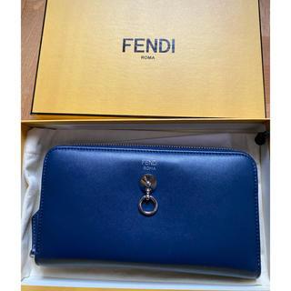 フェンディ(FENDI)のFENDI 長財布 ブルー レザー(長財布)