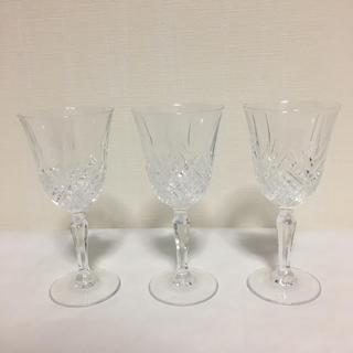 ミツコシ(三越)のフランス製 ワイングラス 3点セット(グラス/カップ)