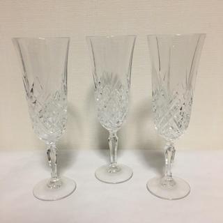 ミツコシ(三越)のフランス製 グラス 3点セット(グラス/カップ)