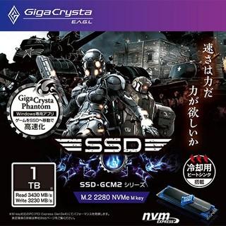 アイオーデータ(IODATA)の新品未開封 GigaCrysta E.A.G.L M.2 SSD 1TB(PCパーツ)
